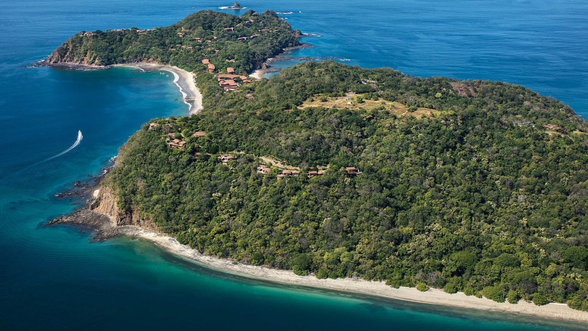 Papagayo aerial. Dp2 to the right of Exclusive Resorts villas.